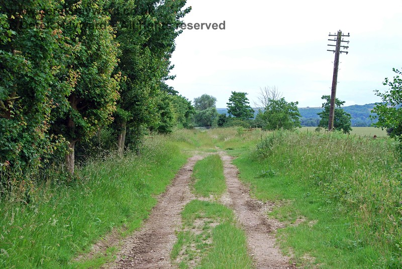 For some reason best known to the contractors, when the line was taken up this single telegraph pole was left standing, perhaps as a memorial.  It has survived for over 40 years, the line having closed in 1969.  This view looks south west.