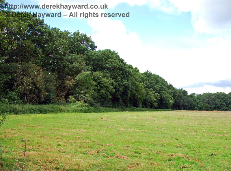A second view of the tree lined embankment looking north.  Sheffield Park is only a short distance away.
