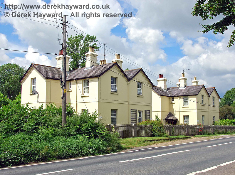 And finally the best shot of the cottages I could obtain without using photographic magic to remove the power lines.  Beyond is Sheffield Park Station and the working part of the Bluebell Railway that we know and love.