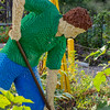 Nature Connects: Art with LEGO Bricks, by NY artist Sean Kenney, exhibit of 27 Lego structures in 14 displays throughout Lewis Ginter Botanical Garden grounds May 27-September 18; award-winning in prior venues, the structures used a half-million Lego bricks, total; garden worker, Children's Garden, consists of 37,497 Legos