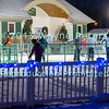 Ice skating in Academy Park, Lewiston, NY.