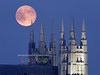 Full Moon over the Basilica, August 2012