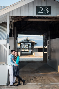 Angie & Marc's engagement session at Keeneland 3.23.14.