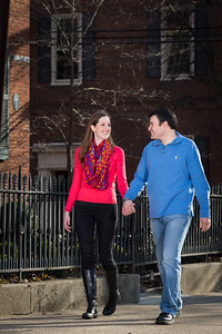 Angie & Marc's engagement session in Gratz Park and Downtown Lexington 3.23.14.