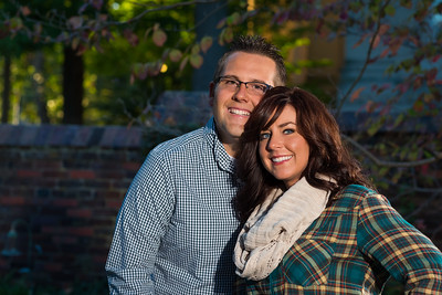 Chasity & Eric's engagements at Commenwealth Stadium and Gratz Park 10.20.13.