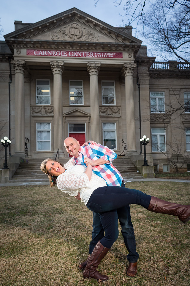 Courtney & Joe's engagements in Downtown Lexington and at Keeneland 3.09.15.