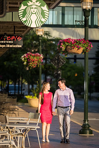 Kenlyn & Patrick in Downtown Lexington.