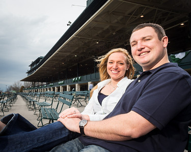 Lauren & Colt's engagement photos at Keeneland 4.03.14.