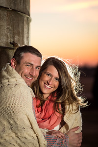 Melissa & Daniel's engagement photos at Gratz Park, Saunier Alley and Talon Winery in Lexington, 1.19.14.