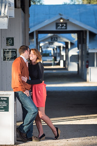 Melissa & Jack's engagements at Keeneland 10.07.13.