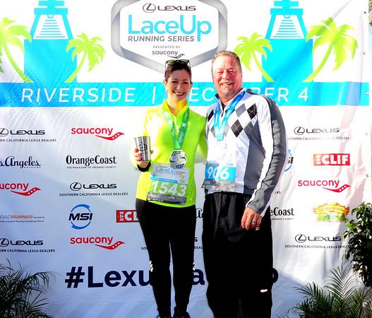 Lexus LaceUp 5K-10K Run,  Riverside CA December 4, 2016