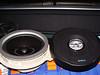 Comparison:<br /> Left: Factory speaker<br /> Right: Aftermarket speaker