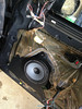 """Aftermarket speaker and speaker adapter   from  <a href=""""http://www.car-speaker-adapters.com/items.php?id=SAK017""""> Car-Speaker-Adapters.com</a>   mounted to door"""