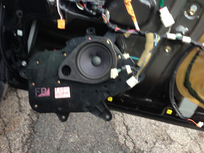 In Process of removing stock speaker
