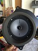 """Aftermarket speaker mounted to speaker adapter  from  <a href=""""http://car-speaker-adapters.com/items.php?id=SAK095""""> Car-Speaker-Adapters.com</a>"""