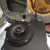 """Aftermarket speaker mounted to speaker adapter    from <a href=""""http://car-speaker-adapters.com/items.php?id=SAK003""""> Car-Speaker-Adapters.com</a>"""