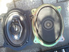 Factory speaker compared to aftermarket speaker and speaker adapter assembly