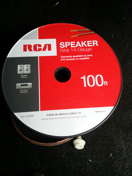 100ft roll of RCA 14 gauge speaker wire.