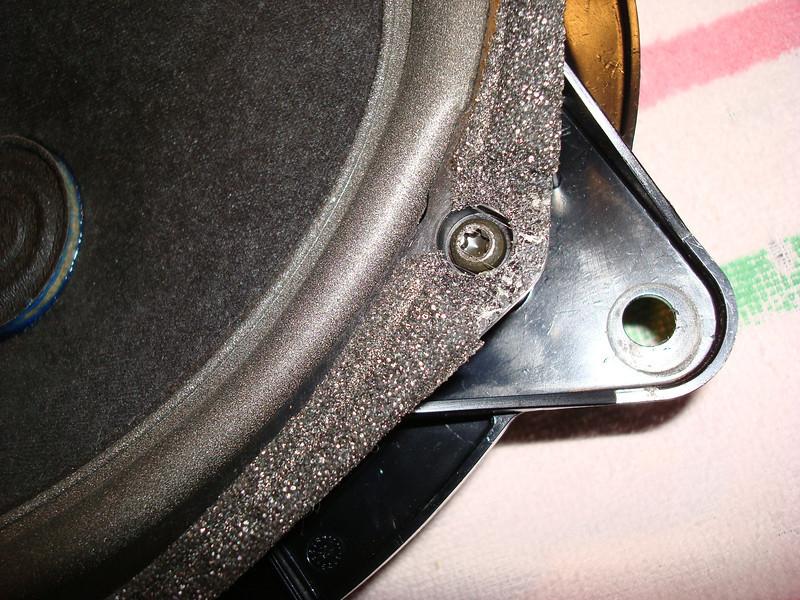 10  Speaker Rim Removal - Note Spline Screws