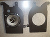 "Left: Aftermarket speaker and speaker adapter plate   from  <a href=""http://www.car-speaker-adapters.com/items.php?id=SAK087""> Car-Speaker-Adapters.com</a>  <br> Right:   speaker adapter plate   from <a href=""http://www.car-speaker-adapters.com/items.php?id=SAK087""> Car-Speaker-Adapters.com</a>"