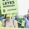 Manifestación el día antes de la entrada en vigor de la Ley Mordaza