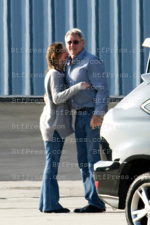 Exclusive___ Liam makes a ride to Harrison Ford when they come back to their Thanksgiving weekend in Santa Monica airport,California.
