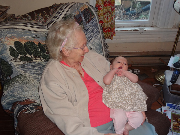 Liana and Great Grandma Corrine