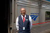 California Zephyr car attendant <br /> Photo (c) Liane Brandon
