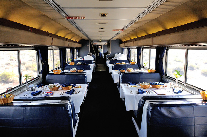 dining car, California Zephyr <br /> Photo (c) Liane Brandon