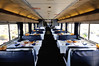 dining car, California Zephyr