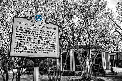 The University of Memphis Sign