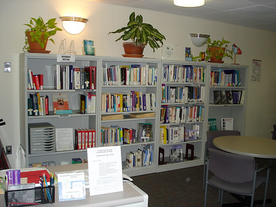 The Consumer Health library area near main entrance