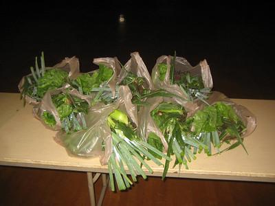 Fresh vegetables awaiting pickup. July 25, 2006.
