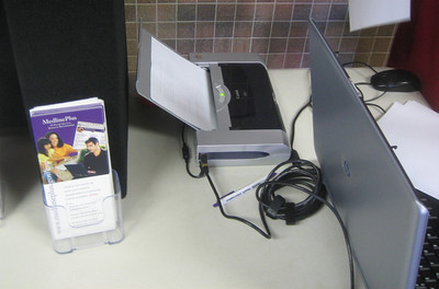 Our portable printer is very handy.