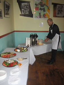 Catering by Black Sheep Deli, served by Ricky at Black Sheep Cafe, Holyoke.