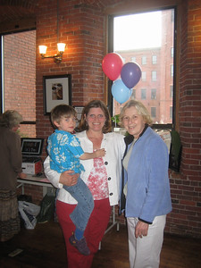 Nigel, Heather Warner, and Sandy Zieminski (Heather  and Sandy were co-workers at Bd of Health before Nigel was born.)
