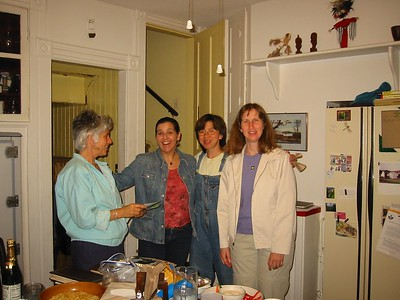 Friends and supporters of the Holyoke Health Library project. Barbara, Drita, Alice, Janet.