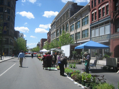 May 4, 2006. Opening Day of the Holyoke Farmers' Market.
