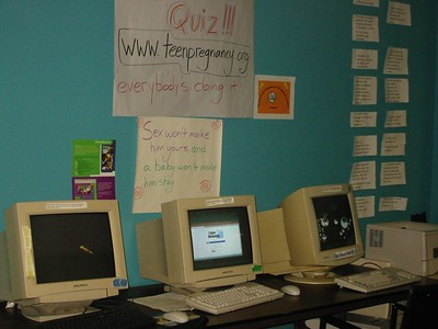 Computer Room at Teen Center. Dec 2004