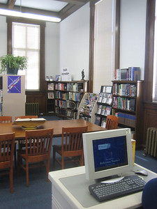 February 2006 - Health Information sign added above the health section of the Reference Room.