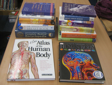 January 2006.  Another batch of new books purchased by HCHL for Holyoke Public Library