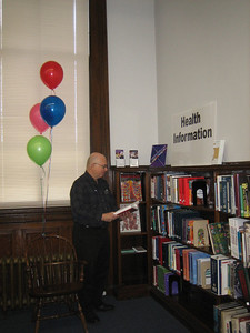 Reference Librarian Michael Baron during Health Information Week.