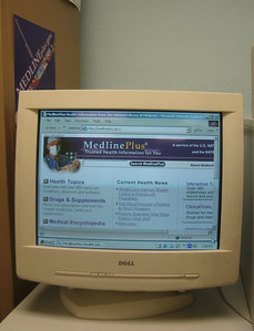 homepage of MedlinePlus.gov  (as seen with large font setting on the bigger monitor)