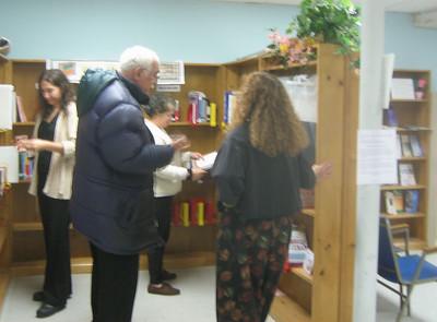 Dr. Bob Abrams  and Jody Spitz, Holyoke Family Literacy Coordinator.  Both Bob and Jody work in Holyoke Public Schools.