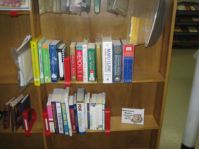 A few weeks later, after Kathleen Packard and Stephanie Merrick discussed where to place the books. Decision: integrate the HCHL books into the Reference shelf within the existing Caregivers Resources Library.