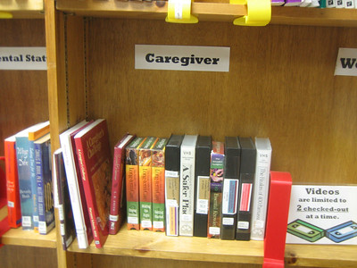 Caregiver books -- including new one selected by Sandy: A Caregiver's Challenge: Living, Loving, and Letting Go by Maryann Schacht, 2nd ed, 2005.