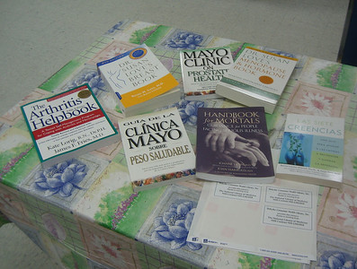 New additions to the Senior Center library on January 11, 2006, thanks to HCHL grant and donors.