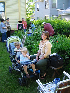Heather Warner, now mother of twin boys.  June 2004