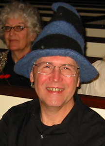 Craig Dreeszen (in costume hat), an Organizational Development consultant who advised HCHL in 2004 and helped us prepare for the NLM grant application.
