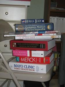 Pile of new books for Girls, Inc./Holyoke Teen Center